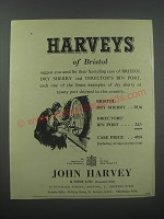 1954 Harveys of Bristol Sherry and Port Ad - Harveys of Bristol