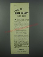 1954 Pond's Dry Skin Cream Ad - After 25 - guard against dry skin
