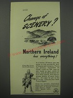 1954 Northern Ireland Tourism Ad - Change of scenery? Northern Ireland