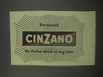 1954 Cinzano Vermouth Ad - Vermouth Cinzano the perfect drink at any time
