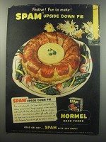 1945 Hormel SPAM Advertisement - recipe for SPAM upside down pie