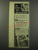 1944 Kerr Mason Jars and Caps Ad - She serves best.. Who cans the most