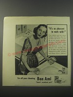 1944 Bon Ami Cleanser Ad - It's so pleasant to work with