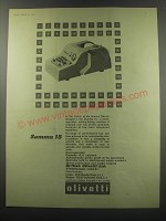 1955 Olivetti Summa 15 Adding Machine Ad - Summa 15