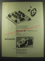 1955 Olivetti Summa 15 Adding Machine Ad - Summa 15 ready with the answer