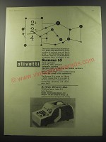 1955 Olivetti Summa 15 Adding Machine Ad - Olivetti Summa 15