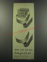 1955 Imperial 66 Typewriter Ad - Quick work well done
