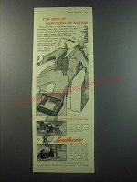 1955 Lentheric Coffrets Ad - For men of Christmas in action