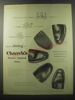 1955 Church's Shoes Ad - Messenger, Lingmoor, Chetwynd, Tweed and Executive