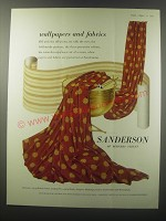 1955 Sanderson Wallpapers and Fabrics Ad
