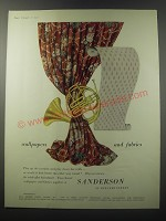 1955 Sanderson Wallpapers and Fabrics Ad - wallpapers and fabrics