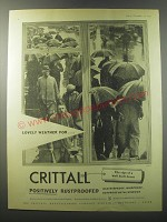1955 Crittall Windows Ad - Loevely weather for