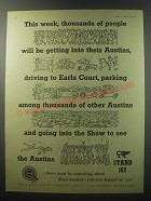 1955 Austin Motor Cars Ad - This week, thousands of people will be getting into