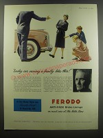 1955 Ferodo Anti-fade Brake Linings Ad - Lucky car owning a family like this