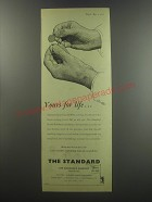 1955 The Standard Life Assurance Advertisement