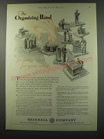 1930 Grinnell Company Ad - The organizing Hand prepares men for your needs