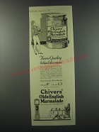 1930 Chivers Olde English Marmalade Ad - There's quality behind this name