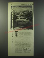 1930 Japan Tourist Bureau Ad - Welcome to Japan