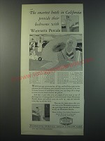 1930 Wamsutta Percale Sheets & Pillow Cases Ad - The smartest hotels