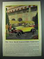 1930 Ford Convertible Cabriolet Ad - Proudly you will drive the new Ford
