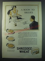 1930 Shredded Wheat Ad - A boon to brides