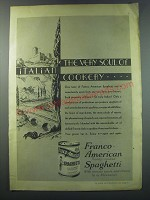1930 Franco-American Spaghetti Ad - The very soul of Italian Cookery