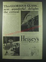 1930 Heisey's Alexandrite Glassware Ad - This glorious glass