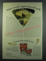 1930 Carnation Milk Ad - recipe for Lemon Cream Pie and Butterscotch Pie