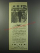 1957 Austin Reed Fashion Ad - Progress without the pills