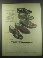 1957 Church's Shoes Ad - Sackville, Chamberlain, Cairn, Buck and Diplomat
