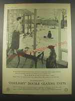 1957 Pilkington's Insulight Double Glazing Units Advertisement