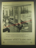 1957 Pilkington's Insulight Double Glazing Units Ad - We don't expect this kind