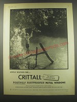 1957 Crittall Metal Windows Advertisement - Lovely weather for