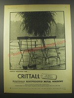 1957 Crittall Metal Windows Ad - Lovely weather for