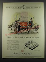 1957 Rothmans of Pall Mall Cigarettes Ad - Makers of fine cigarettes through