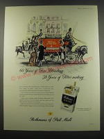 1957 Rothmans of Pall Mall Cigarettes Ad - 60 years of fine blending 50 years