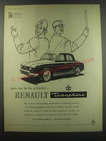 1957 Renault Dauphine Ad - Make way for the delightful Renault Dauphine