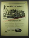 1957 Land Rover Truck Ad - Land Rover Leads.. Specifically designed for use in