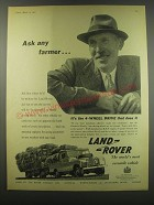1957 Land Rover Truck Ad - Ask any farmer