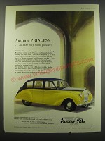 1957 Austin Princess Vanden Plas Car Ad - Austin's Princess.. It's the only