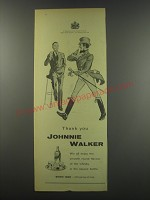 1957 Johnnie Walker Scotch Advertisement