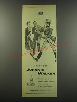 1957 Johnnie Walker Scotch Ad - Thank you Johnnie Walker