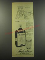 1957 Ballantine's Scotch Ad - It's a question of delicacy