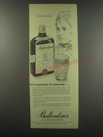 1957 Ballantine's Scotch Ad - It's a question of character