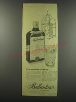 1957 Ballantine's Scotch Ad - It's a question of timing