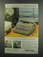 1957 Smith-Corona Electric Portable Typewriter Ad - The world's first Electric