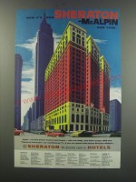 1957 Sheraton McAlpin New York Ad - Now it's new Sheraton - McAlpin New York
