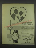 1957 Rotary First Lady and Captain watches Ad - This year - make it a personal