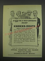 1957 Knokke-Zoute Belgium Tourism Ad - So near for a truly continental holiday