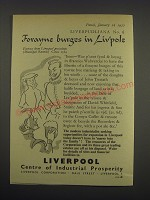 1957 Liverpool Corporation Ad - Forayne burges in Liv'pole
